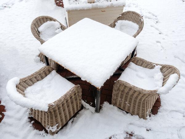 Vinterförvaring av utemöbler